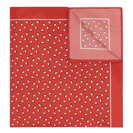 Diamond Print Handkerchief Red