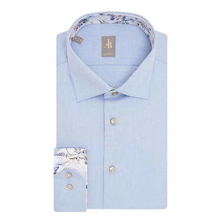 Floral Trim Shirt Blue