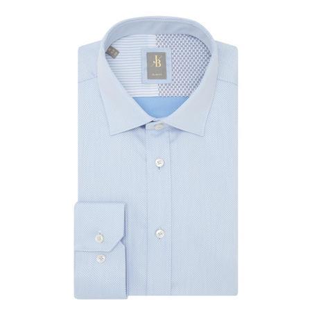 Textured Formal Shirt Blue