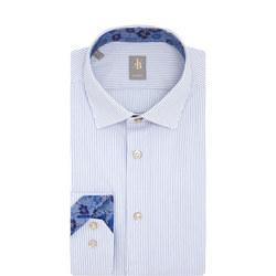 Stripe Custom Fit Shirt Blue
