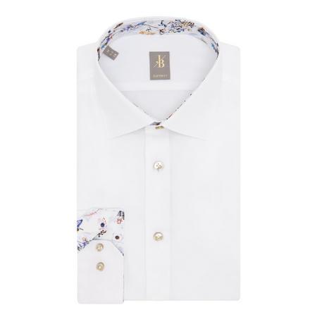 Floral Trim Shirt White