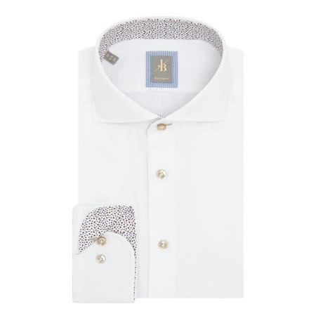 Roma Weave Formal Shirt White