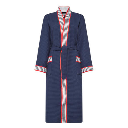 Cannes Hooded Robe Navy