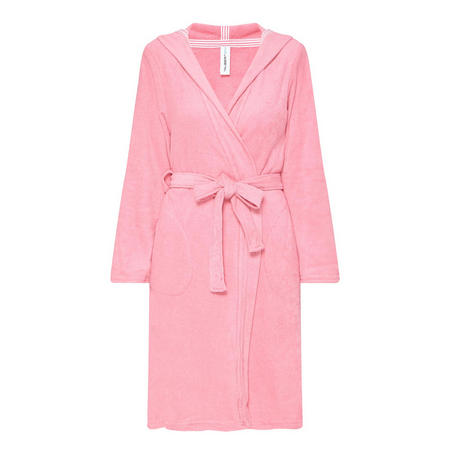 Terry Cloth Robe Pink