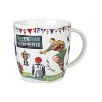 The Rugby Player Mug in Gift Box Multicolour