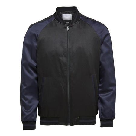 Sateen Bomber Jacket Black