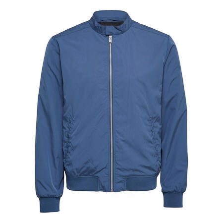 Sporty Bomber Jacket Blue