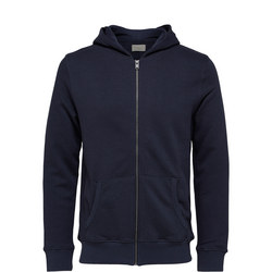 Simon Zip Front Hoody Blue