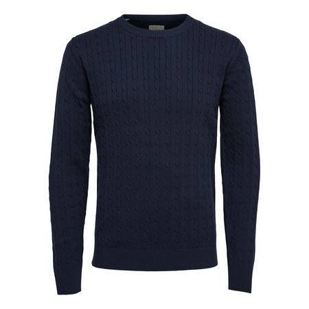 Cable Knit Pullover Blue