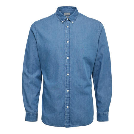 Slim Fit Denim Shirt Blue