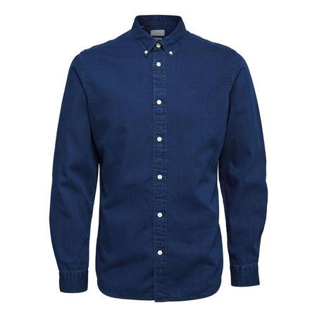 Slim Fit Denim Shirt Navy