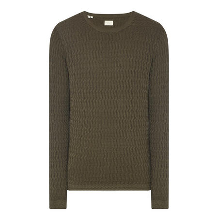 Mike Link Knit Sweater Green