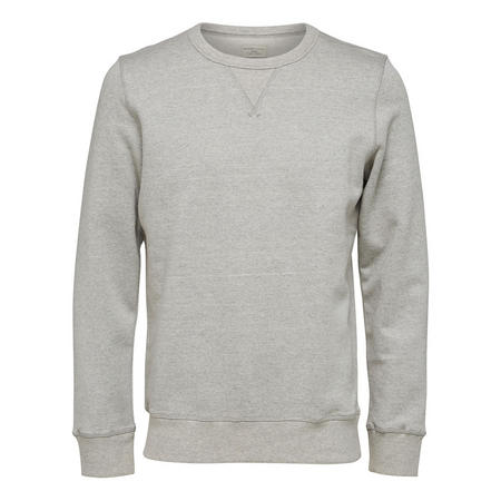 Simon Crew Neck Sweat Top Grey