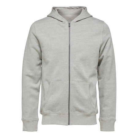 Simon Zip Front Hoody Grey