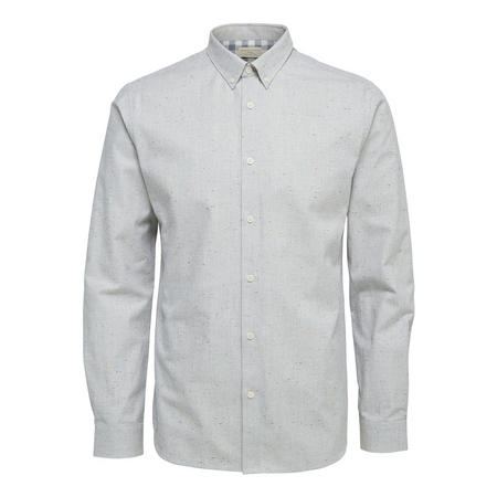 Flecked Casual Shirt Grey