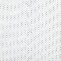 Dot Print Formal Shirt White