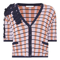 Ruffled Check Cardigan Multicolour