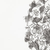 Embroidered Flower T-Shirt Black