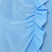 Ruffle Detail Top Blue