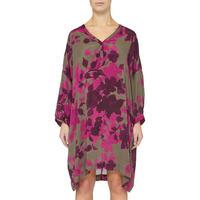 Long Sleeve Floral Print Dress Multicolour