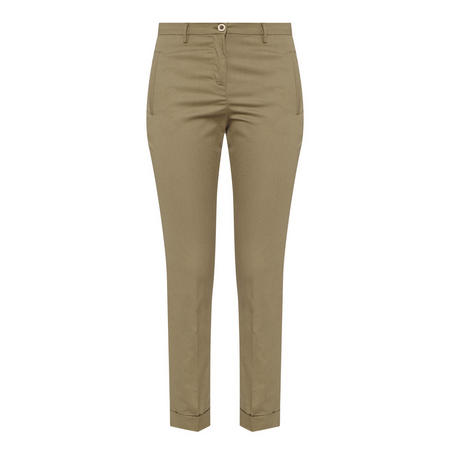 Satin Finish Trousers Green