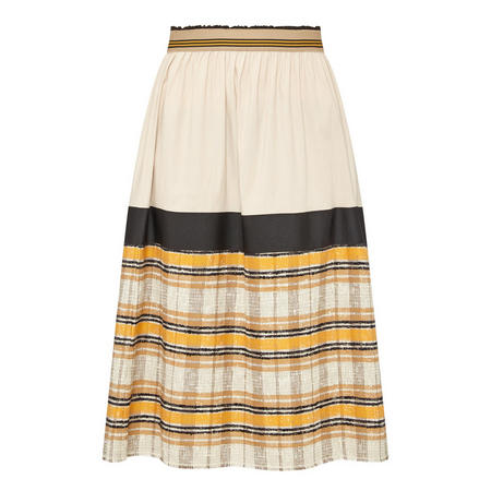 Striped Skirt Cream