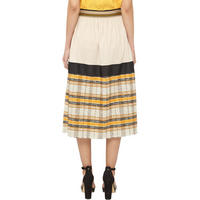 Striped Skirt Cream