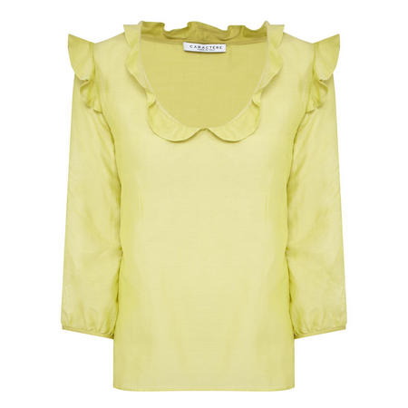 Ruffled Top Lime Green
