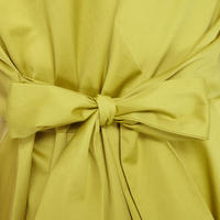 Flared Bow Dress Green