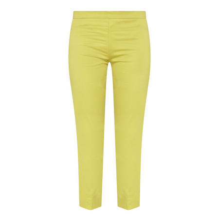 Cropped Tailored Trousers Green