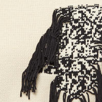 Fringe Detail Sweater Cream