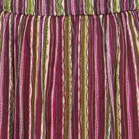 Striped Maxi Skirt Purple