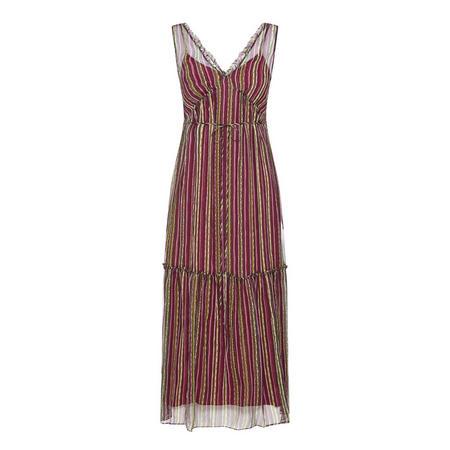 Striped Maxi Dress Purple