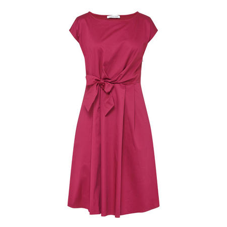 Flared Bow Dress Pink