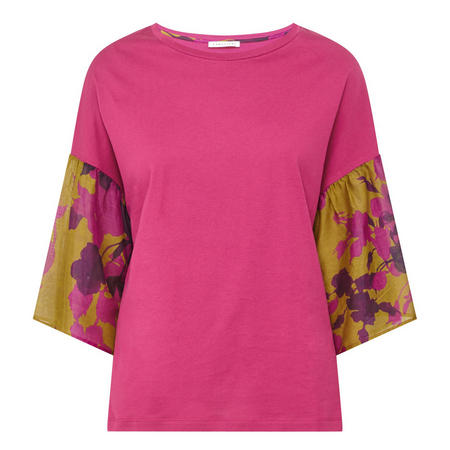 Flared Sleeve Top Pink