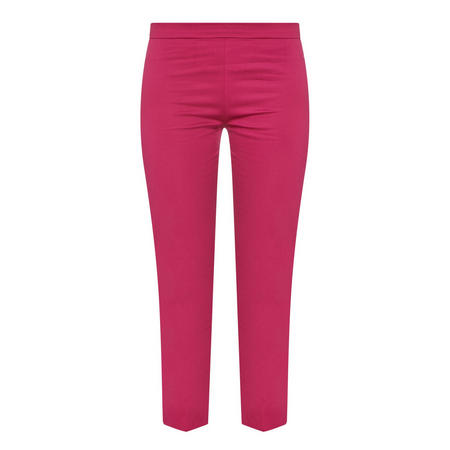Cropped Tailored Trousers Pink