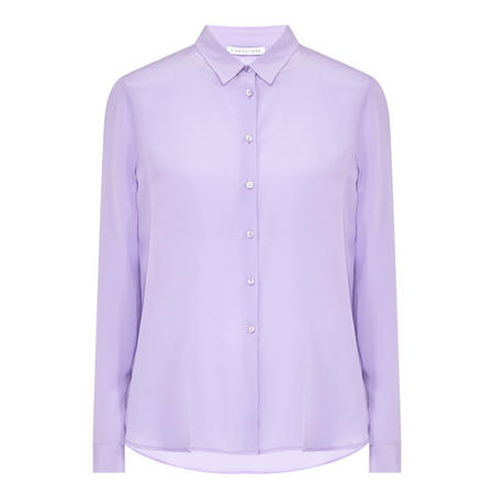 Long Sleeve Silk Shirt Purple