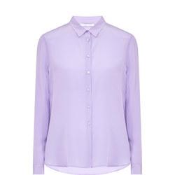 Long Sleeve Silk Shirt Purple