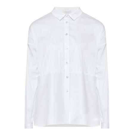 Long Sleeve Straight Shirt White