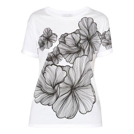 Flower Print T-Shirt White