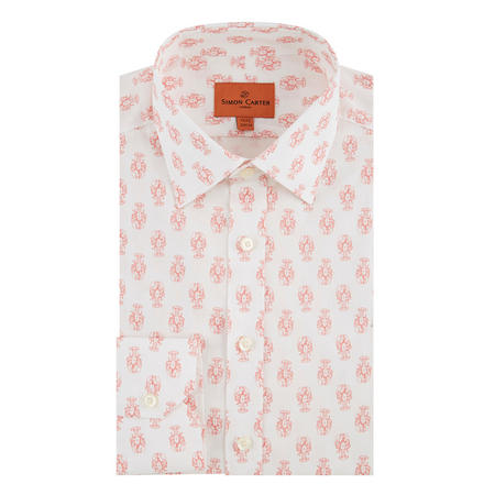 Lobster Print Formal Shirt White