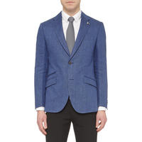Thornhill Herringbone Blazer Blue