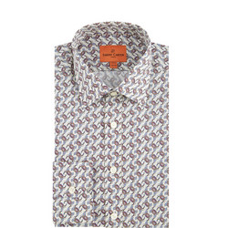 Crab Print Formal Shirt Red