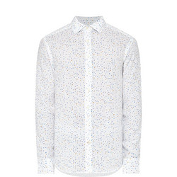 Dotted Casual Shirt White