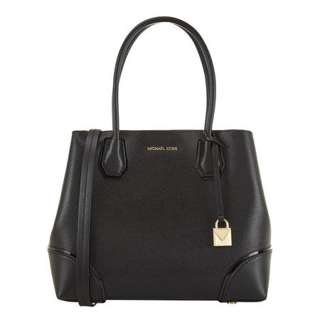 Mercer Corner Leather Tote Black