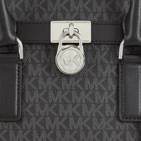 Hamilton Logo Satchel Bag Medium Black