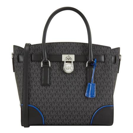 Hamilton Logo Satchel Bag Large Black