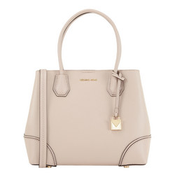 Mercer Corner Leather Tote Pink