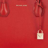 Mercer Corner Leather Tote Red