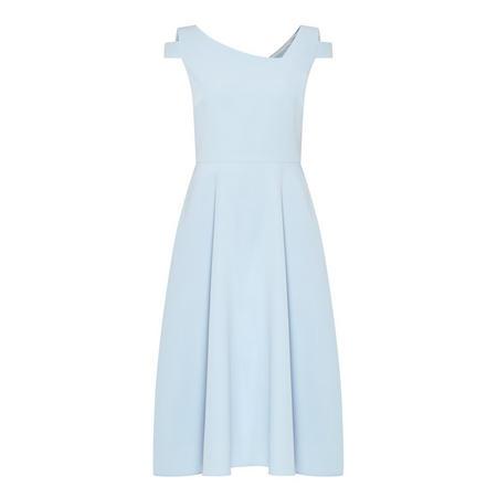 Cut-Out Shoulder Dress Blue